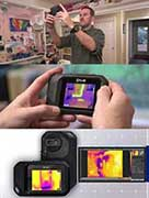 Termites Inspection with thermal imaging camera