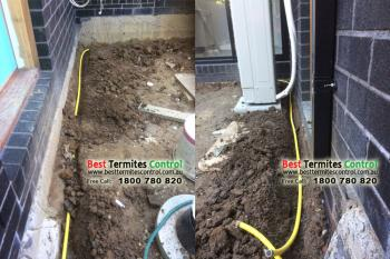 Termite Treatment by Reticulation System to a house in Bulleen