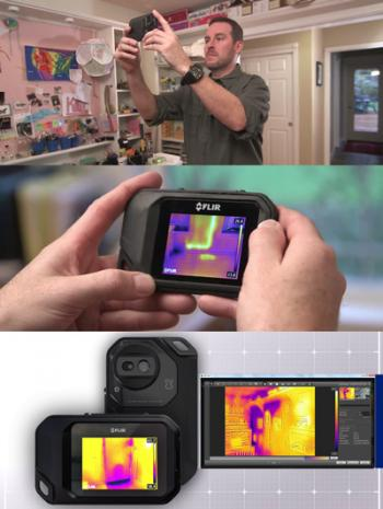 Finding termites with thermal imaging camera