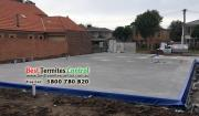 Termite Protection: Home Guard Blue Sheet to the slab perimeter