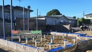 Home Guard Blue Sheet termite treatment to sub-floor area