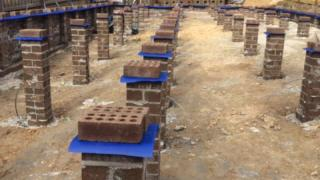 HomeGuard blue sheets applied to different sizes brick piers, Melbourne