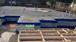 HomeGuard Blue Sheet treatment to construction joint in slab