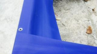 HomeGuard Blue sheets secured by Ramset Nails and washers